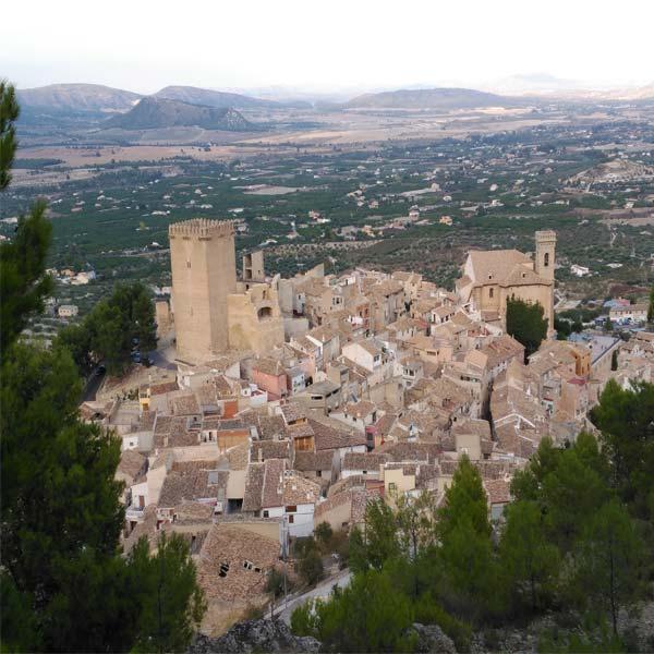 Vista aérea de Moratalla, un rincón por descubrir en el Noroeste de la Región de Murcia